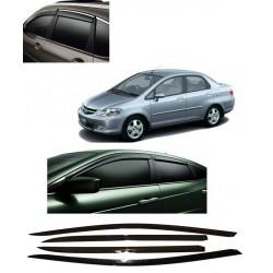 Buy Unbreakable Honda City Zx Door Visors in ABS Plastic at low prices-RideoFrenzy