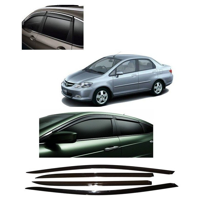 Buy Unbreakable Honda City Zx Door Visors in ABS Plastic at low prices-RideoFrenzy