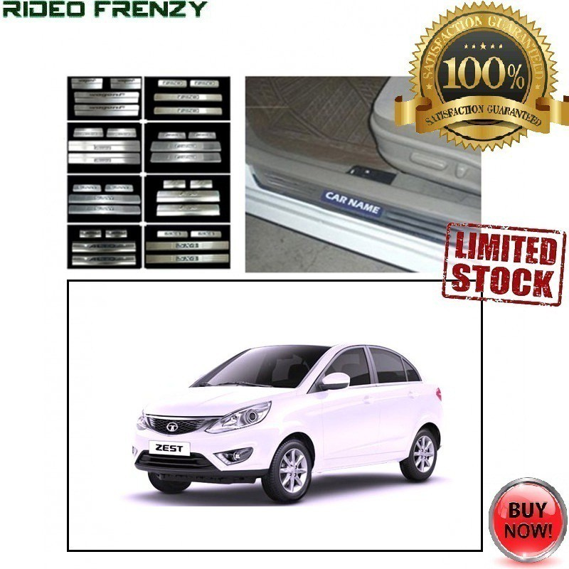 Buy Tata Zest Door Stainless Steel Sill Plate with Blue LED online at low prices-RideoFrenzy