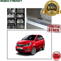 Buy Tata Bolt Door Stainless Steel Sill Plate with Blue LED online at low prices-RideoFrenzy