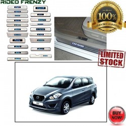 Buy Datsun Go Plus Stainless Steel Sill Plate with Blue LED online | Rideofrenzy