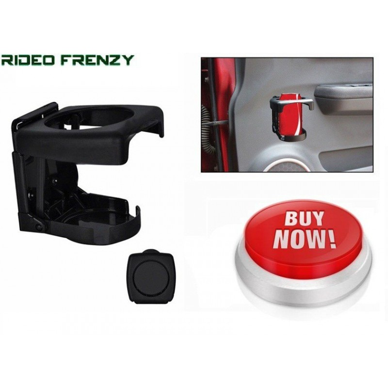 Foldable Black Car Drink Can Holder