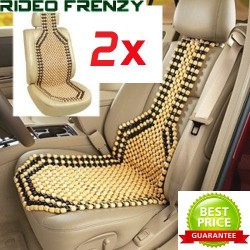 Buy Luxurious Wooden Beige & Black Seat Beads-Set of 2 online at low prices-Rideofrenzy