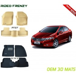 Buy Ultra Light Bucket 4D Crocodile Floor Mats for Honda City Ivtec online at low prices-RideoFrenzy