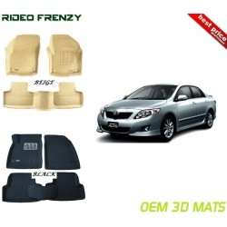 Buy Ultra Light Toyota Corolla Altis Bucket 4D Crocodile Floor Mats online at low prices-Rideofrenzy