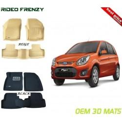 Ultra Light Bucket 4D Crocodile Floor Mats for Ford Figo