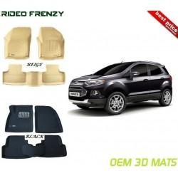 Ultra Light Bucket 4D Crocodile Floor Mats for Ford Ecosports