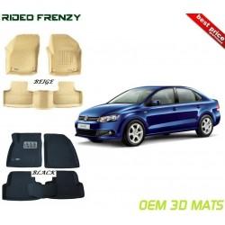 Buy Ultra Light Volkswagen Vento Bucket 3D Floor Mats online at low prices | Rideofrenzy