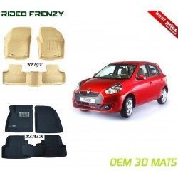 Ultra Light Bucket 4D Crocodile Floor Mats for Renault Pulse