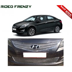 Buy Hyundai Verna Fluidic 2015 Front Chrome Grill Covers at low prices-RideoFrenzy