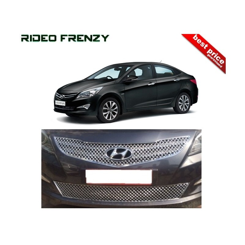 Buy Hyundai Verna Fluidic 2015 Front Chrome Grill Covers At Low Prices RideoFrenzy