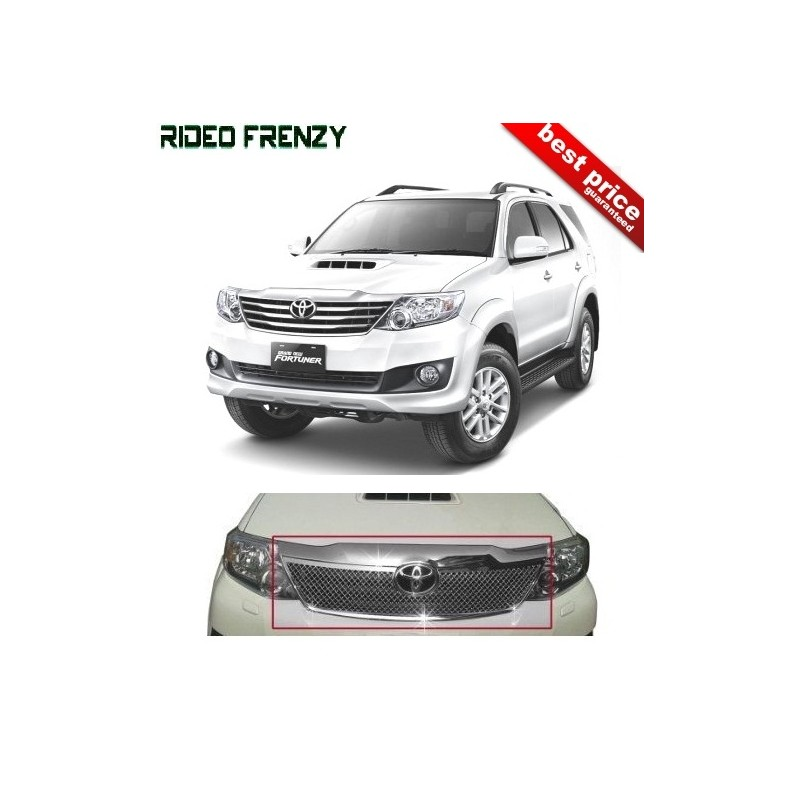 Buy Premium Quality Toyota Fortuner Front Chrome Grill Covers at low prices-RideoFrenzy