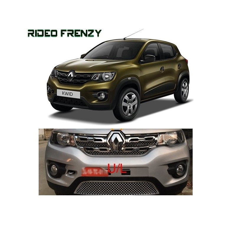 Buy Super Glossy Renault Kwid Full Chrome Grill Covers at low prices-RideoFrenzy