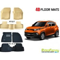 Ultra Light Bucket 4D Crocodile Floor Mats for Mahindra KUV100
