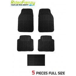 Buy Ruf & Tuf Modesto Black Rubber Floor Mats-5 pieces at low prices-RideoFrenzy