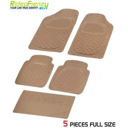 Buy Ruf & Tuf Modesto Beige Rubber Floor Mats-5 pieces at low prices-RideoFrenzy