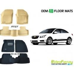 Ultra Light Bucket 4D Crocodile Floor Mats for Chevrolet Cruze