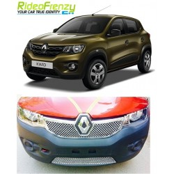 Buy Bentley Type Chrome Front Grill for Renault Kwid at low prices-RideoFrenzy