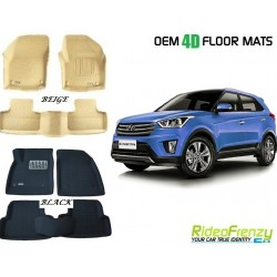 Ultra Light Bucket 4D Crocodile Floor Mats for Hyundai Creta