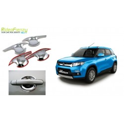 Buy Maruti Vitara Brezza Chrome Handle Finger Guard Cover at low prices-RideoFrenzy
