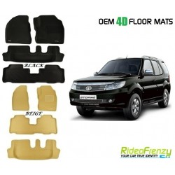 Ultra Light Bucket 4D Crocodile Floor Mats for Tata Safari Storme