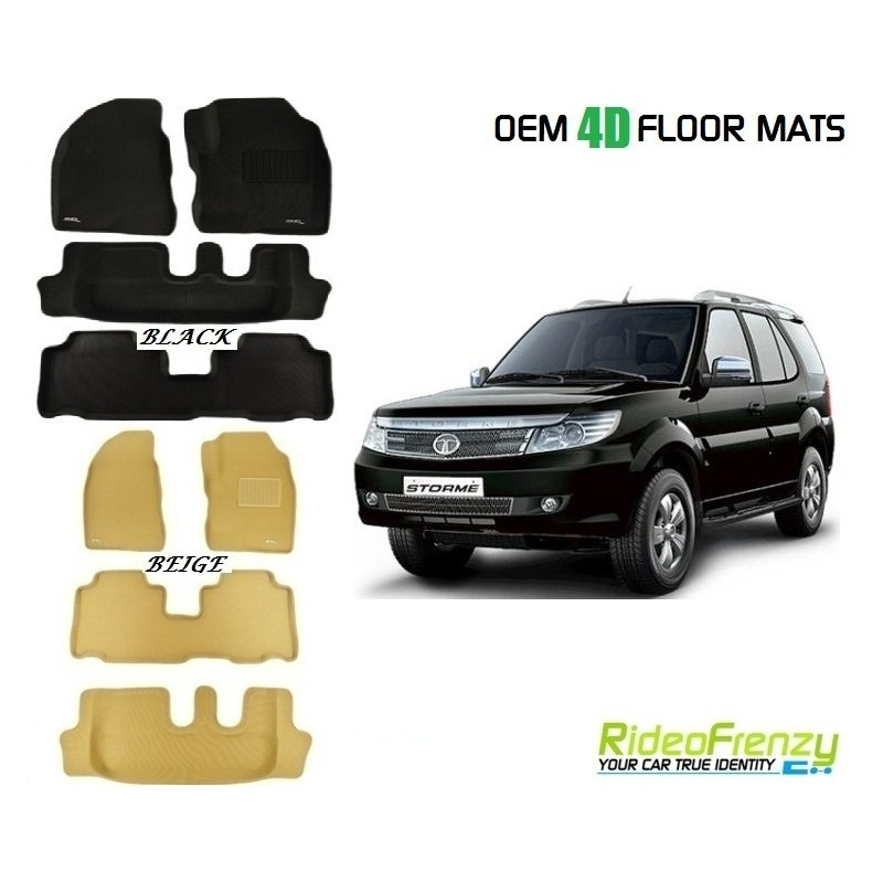 Ultra Light Bucket 3d 4d Floor Mats For Tata Safari Storme