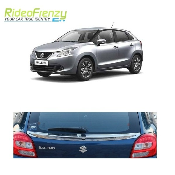 Buy Maruti Baleno Original Chrome Dickey Garnish Triple