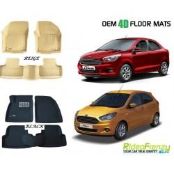 Ultra Light Bucket 4D Crocodile Floor Mats for Figo Aspire & New Ford Figo
