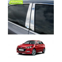 Buy Hyundai Elite i20 Steel Chrome Pliiar Set online at low prices-RideoFrenzy