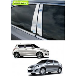 Buy Maruti Swift/Dzire Steel Chrome Pliiar Set at low prices-RideoFrenzy