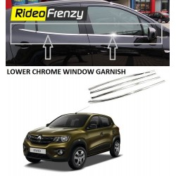 Buy Stainless Steel Renault Kwid Lower Window Garnish online |Rideofrenzy
