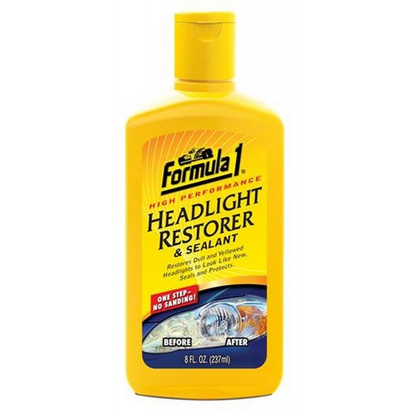 how to clean headlight covers with bug spray
