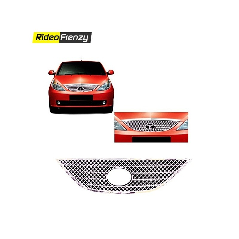 Buy Front Tata Indica Vista Chrome Grill Covers online at low prices-RideoFrenzy