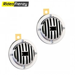 Premium Car/Bike Compact Chrome Horn (Set of 2)