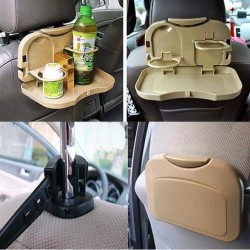 Premium Universal Black Mini Car Meal Tray