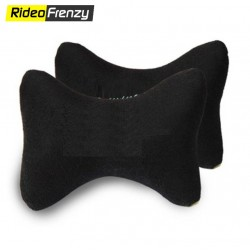 Premium Velvet Neck Rest Cushion for Car (Set of 2)