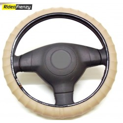 Premium Quality Bold Edge Steering Cover-Beige