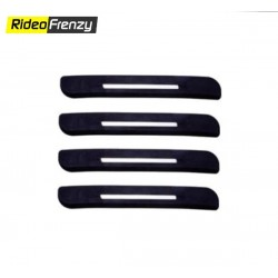 Buy Black Semi Chromed Bumper Protectors at low prices-RideoFrenzy