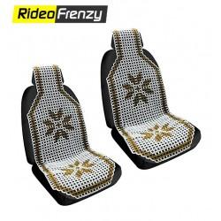 Luxurious White-Blue Seat Beads (Set of 2)