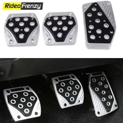 Sporty Anti Slip Car Pedal Kit Set of 3 Red