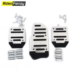 Sporty Anti Slip Car Pedal Kit Set of 3 Black