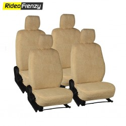 Buy Beige Ultra Soft Microfiber Towel Car Seat Covers | Natural Cotton
