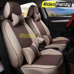 Buy Summer Breathable Automotive Linen Car Seat Covers | 16 mm Evlon Foam | Cresent Coffee Beige