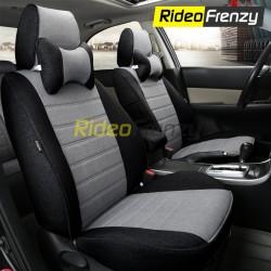 Buy Summer Breathable Automotive Linen Car Seat Covers | 16 mm Evlon Foam | Cresent Black Grey