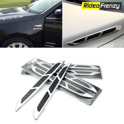 Premium Chrome 3D Fendor Air Flow Body Graphics