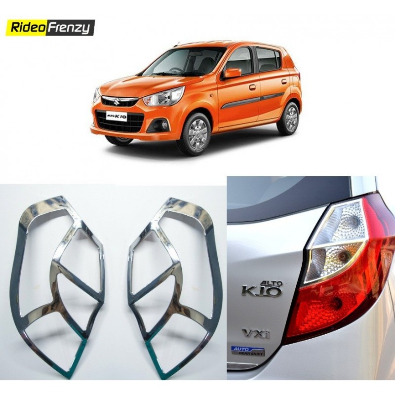 Buy Premium New Alto K10 Chrome Tail Light Covers at low prices-RideoFrenzy