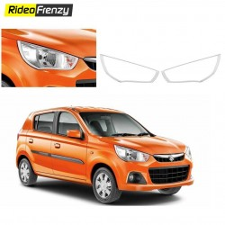 Buy Premium New Maruti Alto K10 Chrome Head Light Covers at low prices-RideoFrenzy