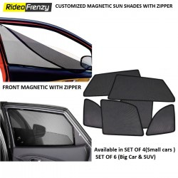 Buy Premium Quality Zipper Magnetic Sun Shades Car Curtain Online India