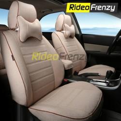 Buy Summer Breathable Automotive Linen Car Seat Covers | 16 mm Evlon Foam | Urban Beige