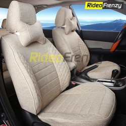 Buy Summer Breathable Automotive Linen Car Seat Covers | 16 mm Evlon Foam | Diamond Beige